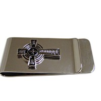Large Textured Cross Money Clip