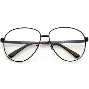 Oversize Women's Round Indie Clear Lens Glasses C215