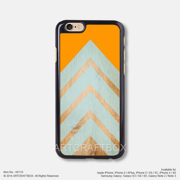 chevron on wood orange iPhone 6 6Plus case iPhone 5s case iPhone 5C case iPhone 4 4S case 119