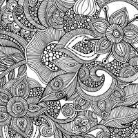 Flowers and doodles Art Print by Valentina Harper