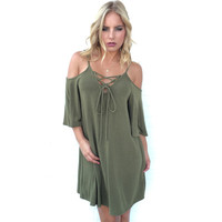 Taken For Granted Dress in Olive