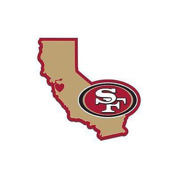 NFL San Francisco 49ers Home State Auto Car Window Vinyl Decal Sticker