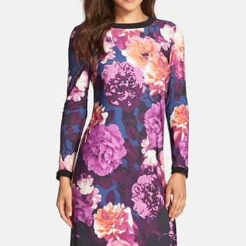 Women's Eliza J Floral Jersey Shift Dress,