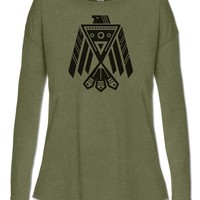 NEW! Eagle Long Sleeve Slouch Top