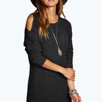 Anna Cut Out Shoulder Jumper Dress
