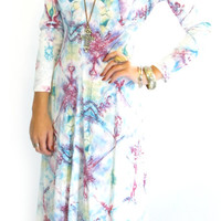 60s/70s Physchedelic MAXI Ethereal Hippie Long DRESS