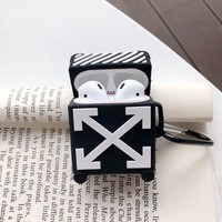 Off White Protective Apple Airpod Case - Black
