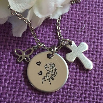 Expecting Mom Gift - Mommy to be - Mothers necklace - Gift for mom - Babyshower gift - Pregnancy - Expecting mother necklace