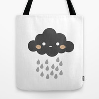 Littlest Rain Cloud Tote Bag by littlestlee