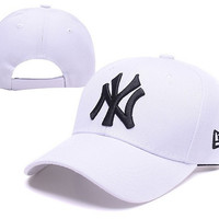 NY Women Men Embroidery Sport Cap Sunshade Baseball Hat Cap