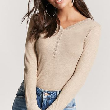 Snap-Button Thermal Henley Top