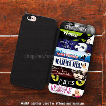 Broadway Musical Collage iPhone 6 cases Wallet iPhone 5s case samsung Note Cases