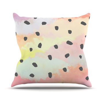 "Strawberringo ""With Dots"" Pastel Painting Throw Pillow"
