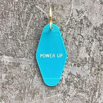 Power Up Keychain in Turquoise