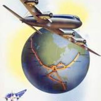 Philippine World Air Lines DC6 Poster