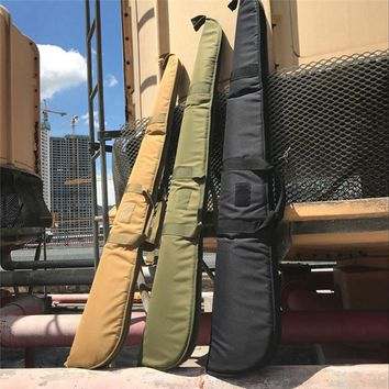 Tactical 130cm Air Rifle Case Airgun Bag with Soft Padding Durable Water-Resistant Military Gun Rifle Protection Carrying Case