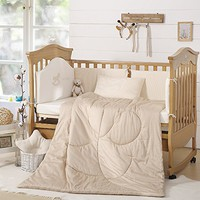 "LOVO BABY Elroy 100% Cotton Crib Nursery Comforter White 47""x 59"""