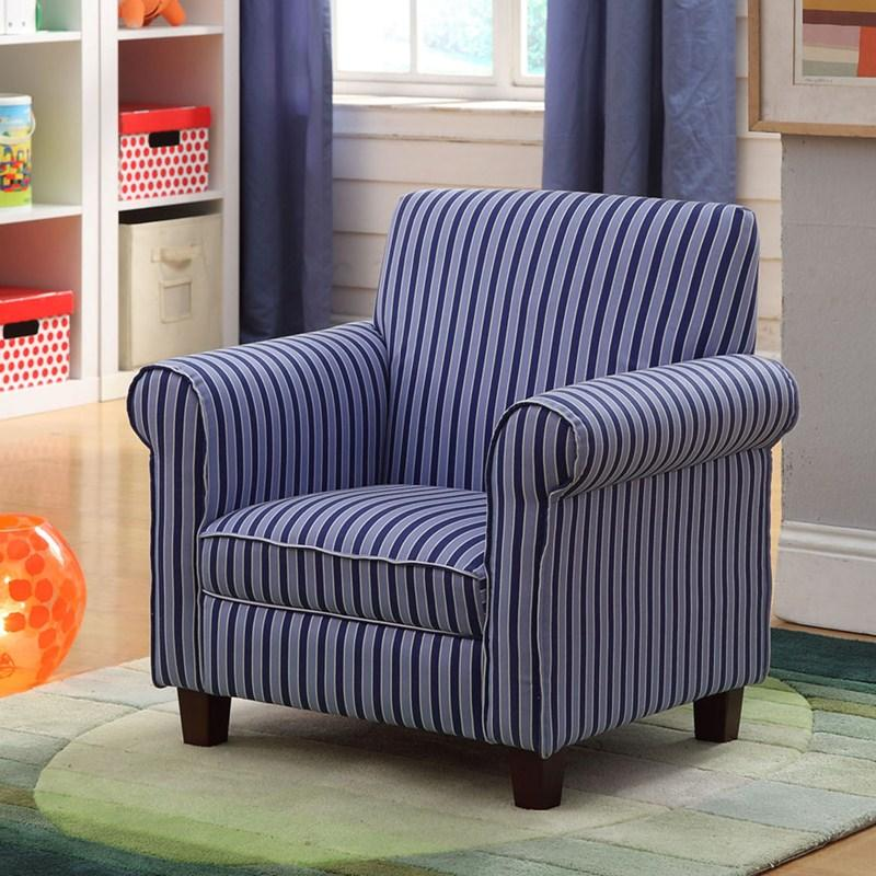 Kid s Club Chair Blue Stripe