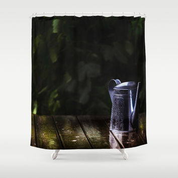 Spring rain Shower Curtain by HappyMelvin