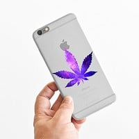 for iPhone 5C - Super Slim Case - Galaxy Weed - Galaxy Marijuana - Hispter - Funny