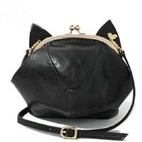 Cute Ears Faux Leather Cross Body Bag