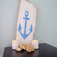 Wooden anchor sign, Beach sign, Nautical decor, Beach house decor, Home decor, Coastal wall decor, Primitive sign, FREE SHIPPING