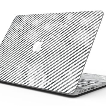 Black and Gray Watercolor Stripes - MacBook Pro with Retina Display Full-Coverage Skin Kit