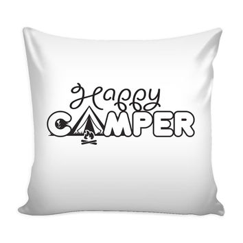 Happy Camper - Pillow Cover
