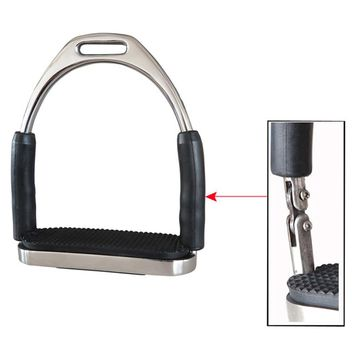 1Pair/2Pcs Saddle Pedals Fence Stirrup Horse Riding Equipment Safety Flexible Anti Slip Racing Stainless Steel Stirrups Supplies