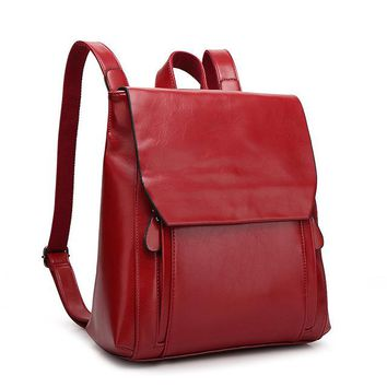 University College Backpack we more Women PU Leather  Style s Softback Bags Brand Name Preppy Style Casual sAT_63_4