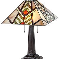 Arts & Crafts Aberle Stained Glass Table Lamp