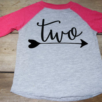 Girls Two Birthday Shirt