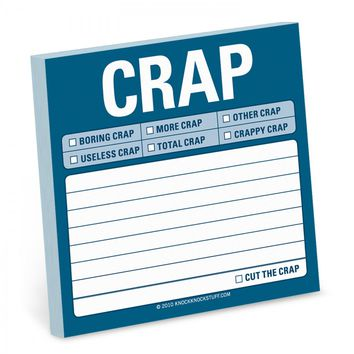 Crap Sticky Notepad