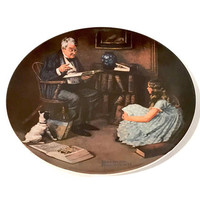 "Edward M. Knowles Collectible Plate, Norman Rockwell, ""The Storyteller"" 1984 Limited Edition, Heritage Series, Fine China, Vintage Plate"