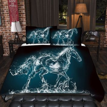 Splashing Horse Bedding Set