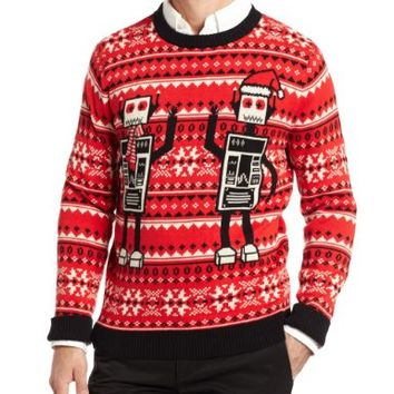 Alex Stevens Men's Robot Ugly Christmas Sweater