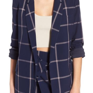 Leith Woven Relaxed Fit Blazer   Nordstrom