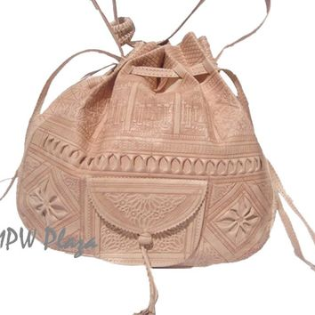 Moroccan Leather Shoulder Bag