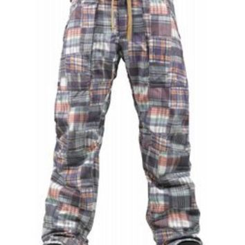 Burton Southside Slim Snowboard Pants Madras Plaid 2013 - Mens