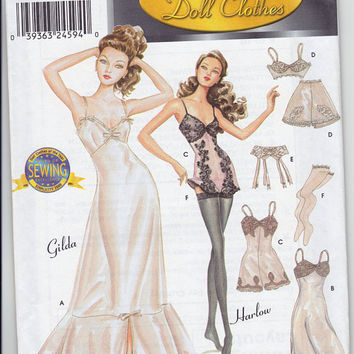 Fashion Doll Pattern - Couturier Doll Clothes - 9527