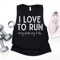 Love To Run Muscle Tank