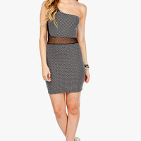Textured Cut Out 1 Shoulder Dress