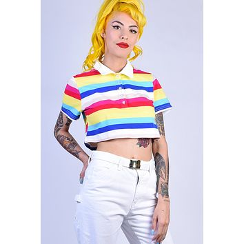 Kerrianne Striped Polo