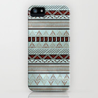 Harry Potter Tribal Print - Blue iPhone & iPod Case by Emily Blood