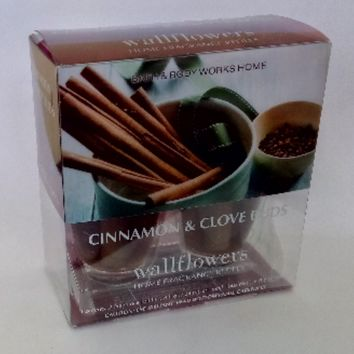 Bath & Body Works CINNAMON & CLOVE BUDS Wallflowers 2-Pack Home Fragrance Refills