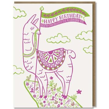 Paper Parasol Press - Happy Birthday Llama Card
