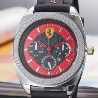 Ferrari Tide brand fashion men and women models wild casual quartz watch #1