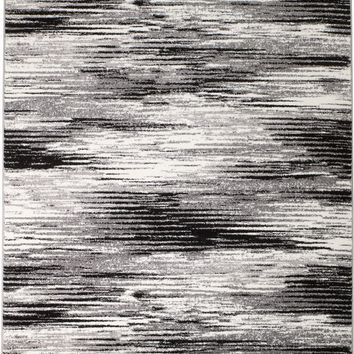 2079 Gray Abstract Contemporary Area Rugs