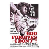 movie POSTER god FORGIVES I don't TERRENCE HILL BUD SPENCER horror 24X36