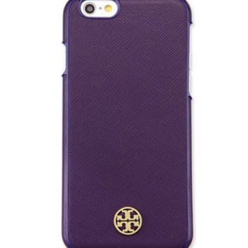 Tory Burch Robinson Logo iPhone 6 Case, Purple Iris